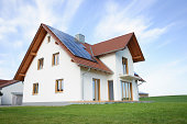New home with solar panels