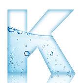 Water Bubble Letter K