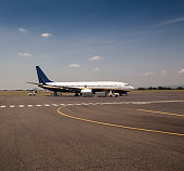 Airplanes loading on airport