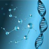 3d DNA molecule structure background. eps10 vector illustration