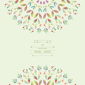 Pattern with vegetative elements in vector