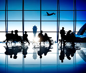Group of World Business People in the Airport
