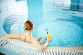 Resting in pool
