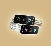 Beautiful diamond bracelet with smart information display