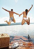 Carefree fun by the lake