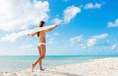 Woman Relaxing Tropical Island