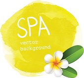 Yellow spa watercolor background