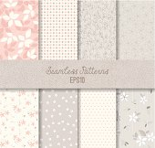 Pink Grey Seamless Patterns