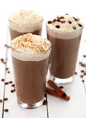 Ice coffee with whipped cream