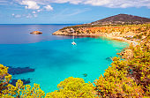 Elevated View on Cala D'hort on Ibiza