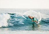 Surfing in summer.