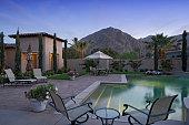Swimming Pool Along Modern Home