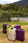 Travel Suitcases in Wilderness Area
