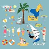 Design element for summer vacation
