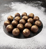 Dark chocolates balls