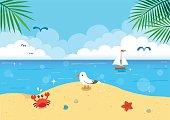 Summer seascape background