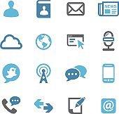 Communication Icons Set - Conc Series