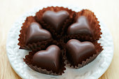 Heart shaped chocolate