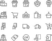 Line Shopping Icons