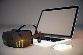 Virtual reality glasses blank screen