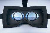 Virtual reality glasses sea