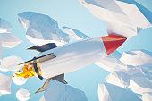 Startup concept rocket