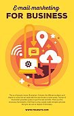 Vector creative colorful illustration of communications