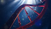 DNA molecule. Closeup of concept human genome.