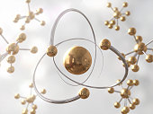 Science Atom Molecule DNA Model Structure,3d rendering,