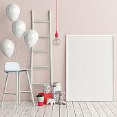 Corner of children room, Empty poster