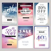 Set of sale banners vector illustration for websites