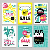 Modern eye catching social media sale banners