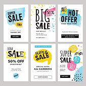 Funny and eye catching sale banners collection