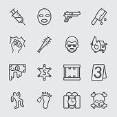 Crime line icon