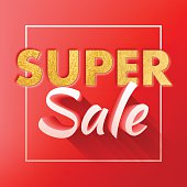 Super sale offer poster banner vector illustration.