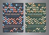 Set A5, A4 Business brochure flyer design layout template.