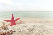 Vintage summer beach background