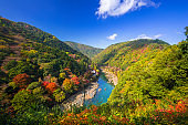 Autumn at Arashiyama view point and Hozu river