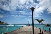 Pier at Great Bay, St. Maarten Caribbean