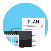 Making monthly business plan for deadline