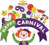 Carnival Celebration Festive Composition Poster