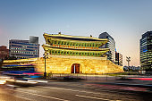 Namdaemun Gate Night Seoul South Korea