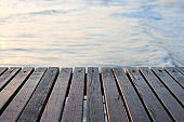 Wooden pier over the sea