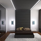 3d rendering of a bedroom interior design
