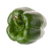 Green pepper shooted isolated on a white background