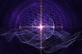 Scientific futuristic background