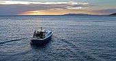 Trawler in sea