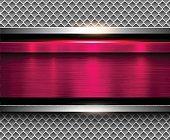 Background metallic pink