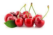juicy organic cherry isolated