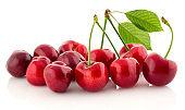 Fresh cherry isolated